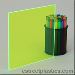 Fluorescent Green Plexiglass Acrylic Sheets