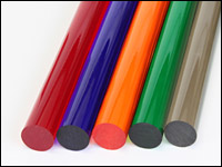 Acrylic Rod Transparent Colors Extruded - Round