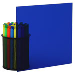 Transparent Blue Plexiglass Acrylic Sheets 2424