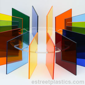 Transparent Colored Plexiglass