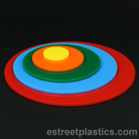 plexiglass acrylic colored circles