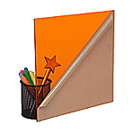 Transparent Orange Plexiglass Sheet