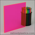 Fluorescent Red Plexiglass Acrylic Sheets