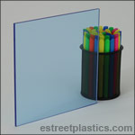 Fluorescent Blue Plexiglass Acrylic Sheets
