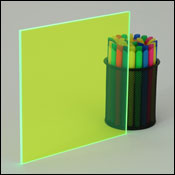 Fluorescent Green Plexiglass