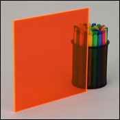 Fluorescent Orange Plexiglass