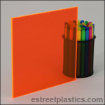 Fluorescent Orange Plexiglass Acrylic Sheets