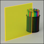 Fluorescent Yellow Plexiglass