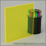 Fluorescent Yellow Plexiglass Acrylic Sheets