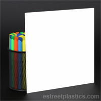 Sample Chips: White Plexiglass Acrylic