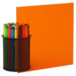 Transparent Orange Plexiglass Acrylic Sheets 2422