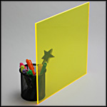 fluorescent acrylic plexiglass yellow